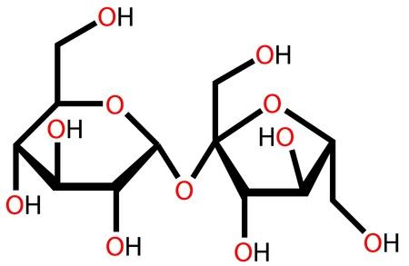 Fórmula estructural de la sacarosa Foto de archivo - 12416386