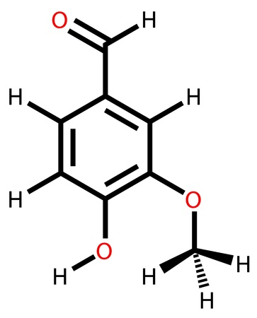 enlaces quimicos: F�rmula estructural de la vainillina