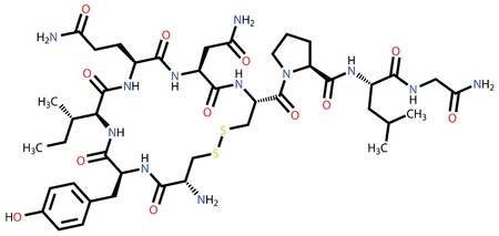 Oxytocin love hormone structural formula