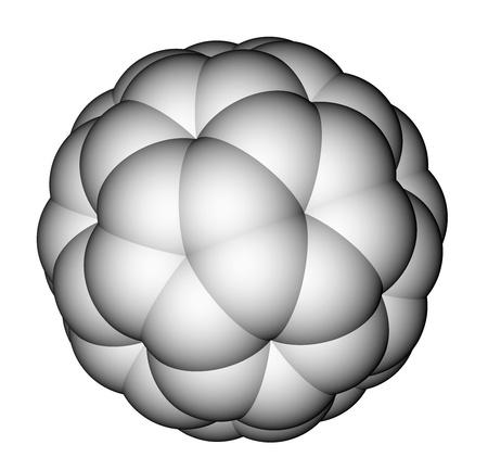 superconductivity: Fullerene C60 space filling molecular model