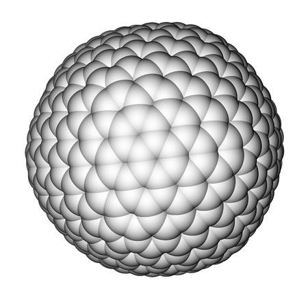 Nanocluster fullerene C540 molecular model photo
