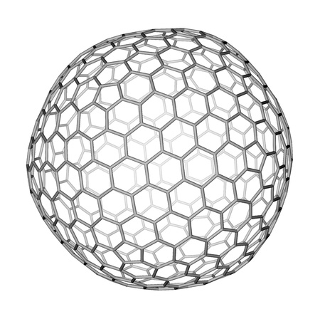 Nanocluster fullerene C540 molecular model photo