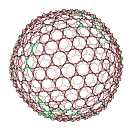 superconductivity: Nanocluster fullerene C540 molecular structure Stock Photo