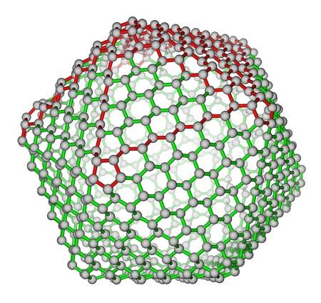 superconductivity: Nanocluster fullerene C720 molecular structure Stock Photo