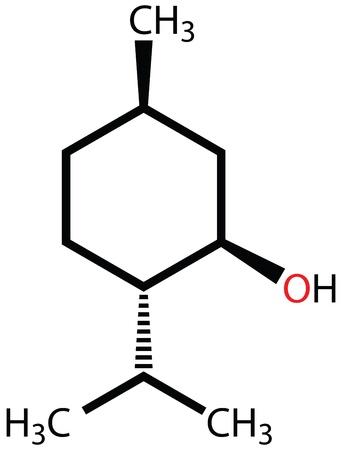 structural: Menthol structural formula