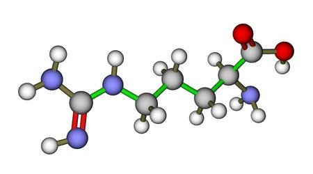 Aminosäure Arginin molekulare Struktur