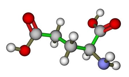 ácido: Glutámico Amino Acid estructura molecular Foto de archivo