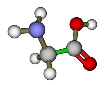 glycine: Amino acid glycine molecular structure