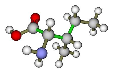 Essential amino acid isoleucine molecular structure Stock Photo - 12771494