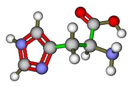 Essential amino acid histidine molecular structure photo