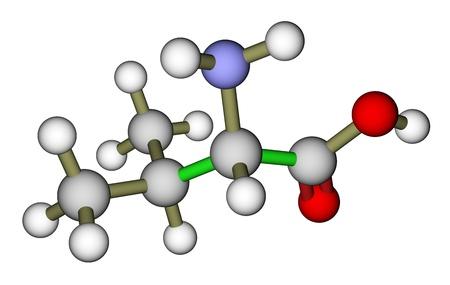 Essential amino acid valine molecular structure photo