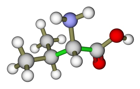3d nitrogen: Essential amino acid valine molecular structure Stock Photo