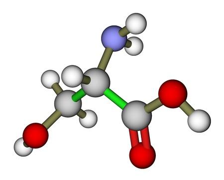 protease: El amino�cido serina estructura molecular Foto de archivo