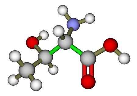 Essential amino acid threonine molecular structure photo