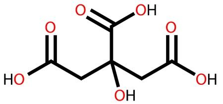 Citric acid (food additive E330) structural formula