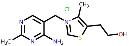 Thiamine (vitamin B1) structural formula Stock Vector - 12771481