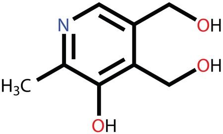 vitamins: Pyridoxine (vitamin B6) structural formula