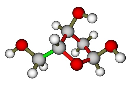 deoxyribose: Deoxyribose, a precursor to DNA. Molecular structure