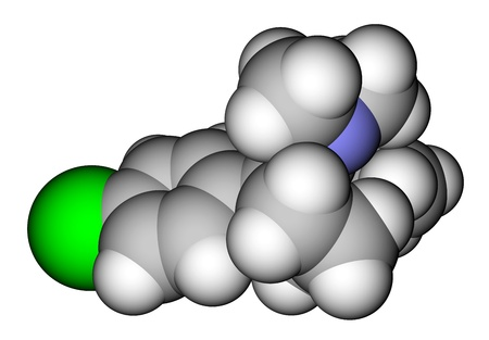 Sibutramine (oral anorexant, obesity treatment) molecular structure photo