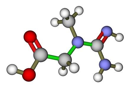 Creatin 3D molekulare Struktur Lizenzfreie Bilder