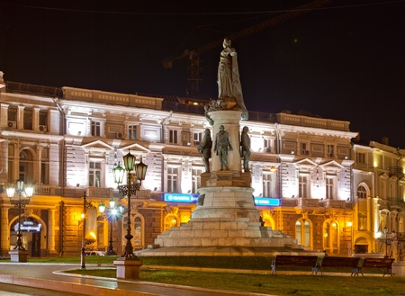 Monument to empress Catherine. Odessa, Ukraine photo