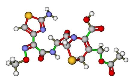 parenteral: Cefotaxime, a cephalosporin antibiotic. Molecular structure Stock Photo