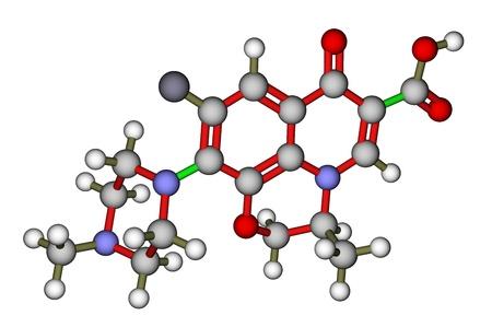 Antibiotic ofloxacin molecular structure Stock Photo - 13186402
