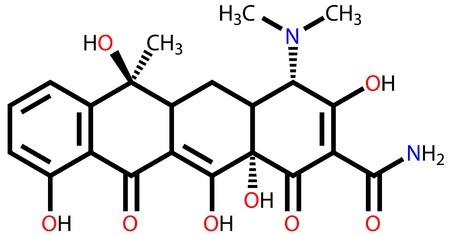 colera: Antibiótico fórmula estructural tetraciclina