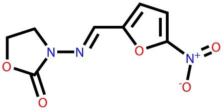 Antibacterial furazolidone structural formula Stock Vector - 13186398
