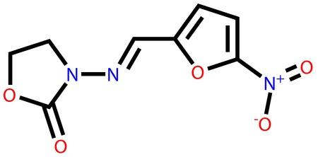 adverse: Antibacterial furazolidone structural formula Illustration