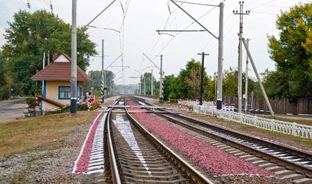Railway crossing in Ukraine Stock Photo - 13266653