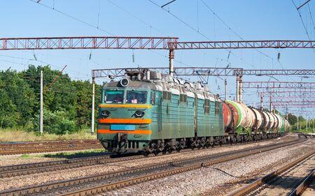Freight train with liquid cargo in Ukraine photo