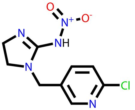 spearman: Imidacloprid, the most widely used insecticide in the world. Structural formula