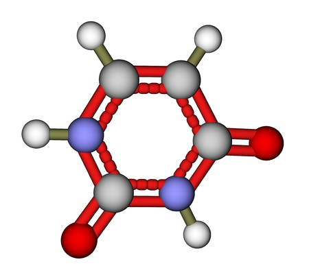 uracil: Nucleobase uracil molecular structure
