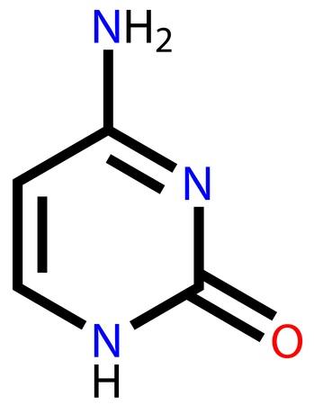 Nucleobase cytosine structural formula Vector