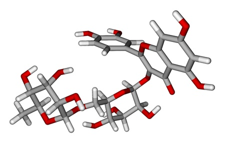 Rutin sticks molecular model photo