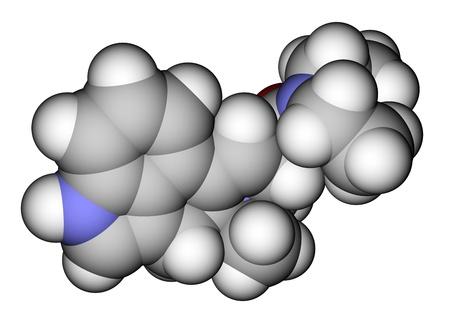 Psychedelic drug LSD space-filling molecular model Stock Photo - 13411819