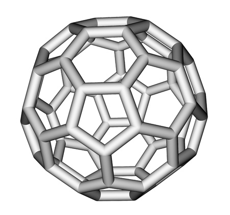 Nanostructure fullerene C60 sticks model photo
