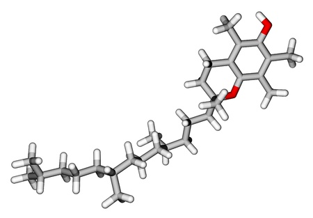 Alpha-tocopherol (vitamin E) sticks molecular model photo