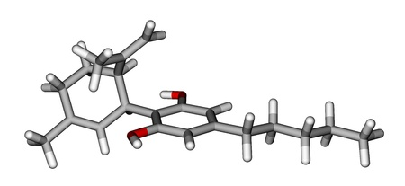 cannabinoid: Cannabidiol, the constituent of the cannabis plant Stock Photo