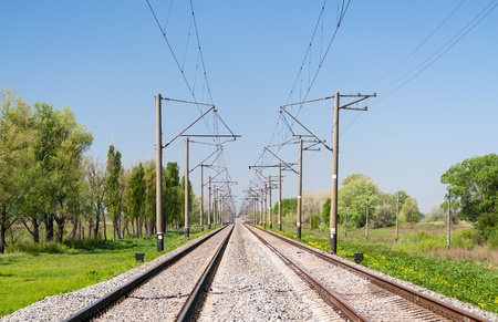 hz: Double-track electrified (25 kV, 50 Hz) railway line