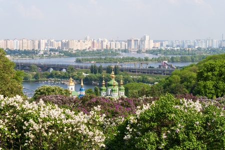 View from the botanical garden in Kyiv, Ukraine photo