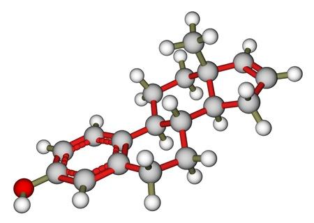 Estratetraenol, a strong female-produced pheromone. Molecular structure Stock Photo - 13495758