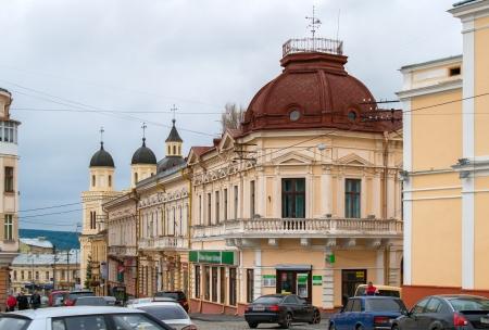 chernivtsi: View of Chernivtsi city center, Ukraine Stock Photo