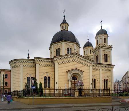 chernivtsi: Church of Saint Paraskevi  Chernivtsi, Ukraine  Built 1860 Stock Photo