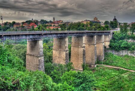 Old bridge in Kamianets-Podilskyi, Ukraine  HDR image Stock Photo - 13916198