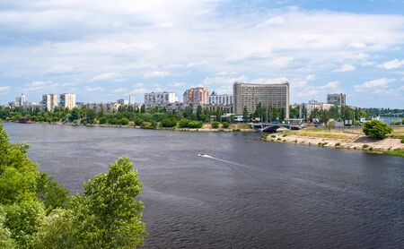View of Rusanivka, one of Kiev residential communities  Ukraine photo