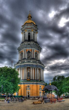 The Great Belfry of Kiev Pechersk Lavra, Ukraine  HDR image photo