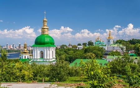 View of Kiev Pechersk Lavra, the orthodox monastery included in UNESCO world heritage list  Ukraine