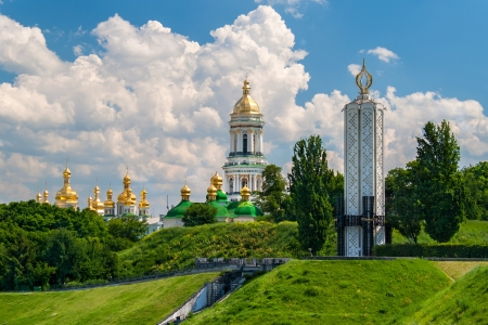 famine: Kiev Pechersk Lavra Orthodox Monastery and Memorial to famine  holodomor  in USSR  Ukraine